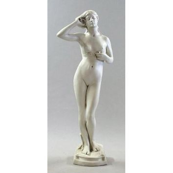 Crocus Nymph Nude Woman by Borgeson Lifesize Garden Statue 61H