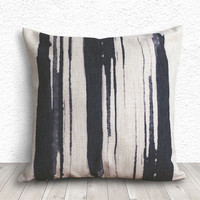 Ink Pillow Cover, Pillow Cover, Pillow Case, Linen Pillow Cover 18x18 - Artistic Brushes - 205