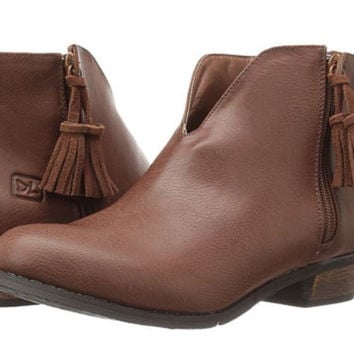 Cognac Bootie By Dirty Laundry