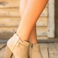Cabin Creek Booties-Taupe