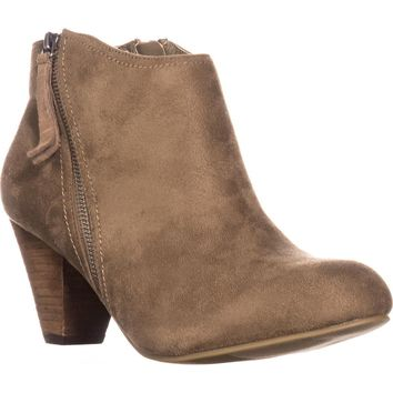 XOXO Amberly Ankle Booties, Taupe, 7.5 US
