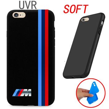 UVR Brand For silm BMW M Series M3 M5 Cover Case For iPhone 4 4S 5 5C SE 6 6S 7 Plus 4.7 5.5 Ultra thin soft case