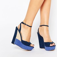 Paper Dolls Wedge Ankle Strap Sandals