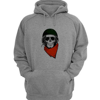 skull army Hoodie Sweatshirt Sweater Shirt Gray for Unisex size with variant colour