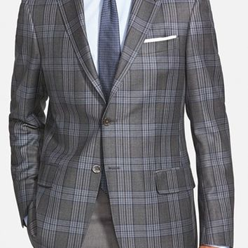 John W. Nordstrom Classic Fit Plaid Wool Sport Coat,