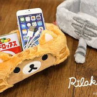 Strapya World : San-X Rilakkuma Cat Style Stuffed Multi-Utility Box (Rilakkuma)