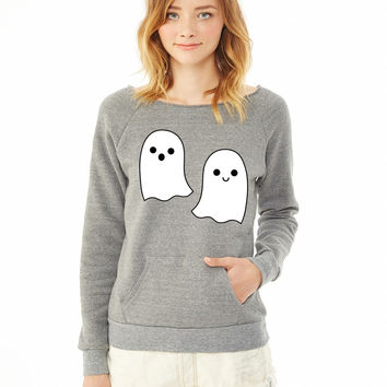 Cute halloween ghosts ladies sweatshirt