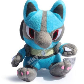 POKEMON Lucario Plush toy doll birthday gift stuffed animals anime action figures brinquedos movie cartoon pillow doll kids cute