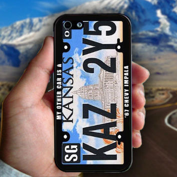 Supernatural Winchester Impala Kansas License Plate - Print on hard plastic case for iPhone case. Select an option