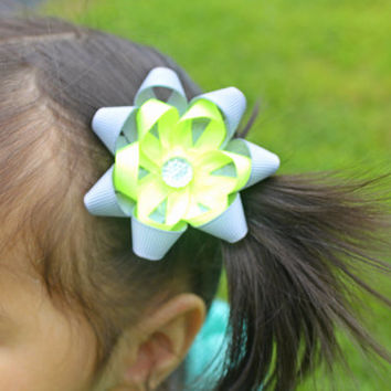 Twin Set -Pigtail Ponytail Cute Hairbow in any color combo