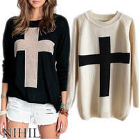 Winter Long Sleeve Knitted Pullover