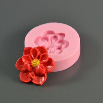 Silicone mold Flower  25х25х5 mm - for making jewelry, scrapbooking - for decoration and design -For epoxy resin and polymer clay
