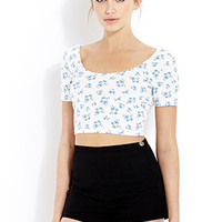 FOREVER 21 Soft Floral Crop Top