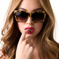 Oversized Squared Sunnies- Multiple Color's Available