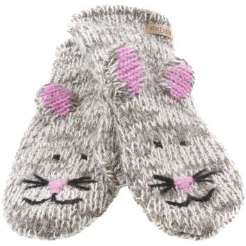Mimi The Mousey Knit Mittens