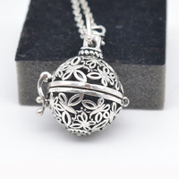 Living Lockets Pendant For Women Pregnancy Balls Lava Stone Lockets Aromatherapy Essential Oil Diffuser Necklace Mexico Balls