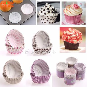 2017 Paper Cake Cupcake Liner Case Wrapper Baking Muffin Wedding Cup Party 150pcs apr7_15