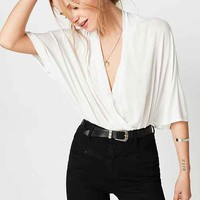 Silence + Noise Night Owl Surplice Top