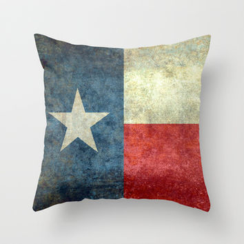 "The State flag of Texas - The ""Lone Star Flag"" of the ""Lone Star State"" Throw Pillow by LonestarDesigns2020 - Flags Designs +"