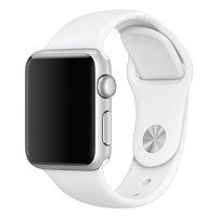 Silicone Apple Watch Band - White