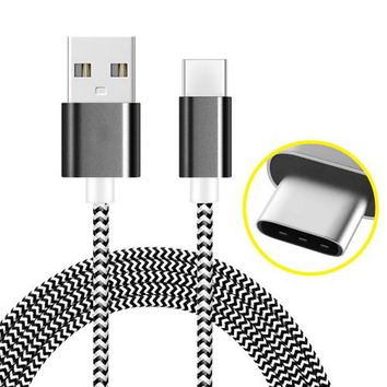 USB Type C Cable Braided 3ft Long AMZER usb Type C Cable By AMZER | USB Type C Data Sync Braid Cable 3FT/1M for Samsung Galaxy S9 S8 Note 8, Pixel, LG V30 G6 G5, Nintendo Switch, OnePlus 5 3T
