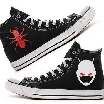 Ant-Man Custom Converse / Painted Shoes