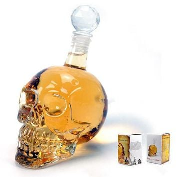 New Crystal Skull Vodka Bottles Skull Head Bottle Creative Gothic Wine Vodka Decanter 125ML 350ML 550ML 1000ML Four Sizes