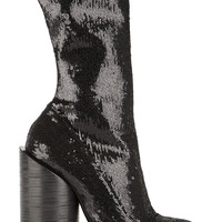 Givenchy - Boots in sequined black stretch-leather