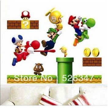 Super Mario party nes switch  Bros Art Mural Wall Vinyl Sticker Decal Home Kid's Decal 50X70cm AT_80_8