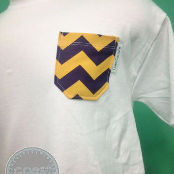LSU Chevron Pocket Tee