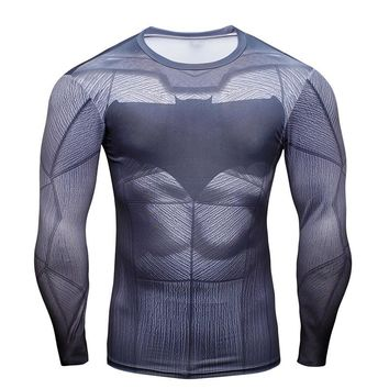 Batman Animated Long Sleeve Compression Shirt