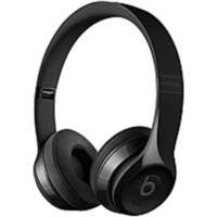 Beats by Dr. Dre Solo3 Wireless On-Ear Headphones - Gloss Black - Stereo - Gloss Black - Mini-phone - Wired-Wireless - Bluetooth - Over-the-head - Binaural - Circumaural