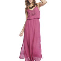 Embroidered Tank Maxi Dress | Wet Seal