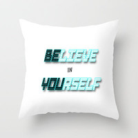 Be You Throw Pillow by Alice Gosling | Society6