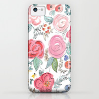 Watercolor Floral Print iPhone & iPod Case by Jenna Kutcher | Society6