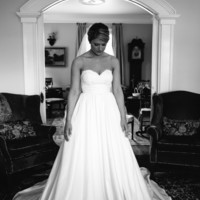 Alencon Lace Sweetheart Taffeta Wedding Dress with Pockets