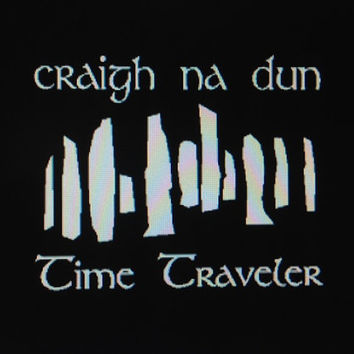 Outlander vehicle auto window decal Craig Na Dun Time Traveler custom sticker