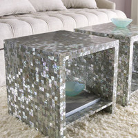 Abalone Side Table - Horchow