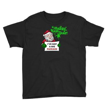 heapy new year funny santa claus christmas Youth Tee