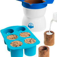 Milk and Cookie Shot Maker: Bake shot glasses out of chocolate chip cookies.