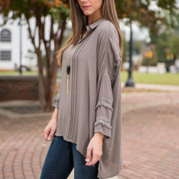 Office Fifth Avenue Blouse, Olive