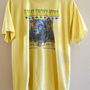 Smoky Mountains Graphic Tee Oversized 90's Vintage XL