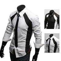 New Fashion Style Men's Slim Dress Shirt