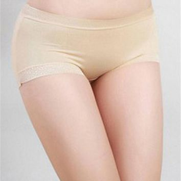 High Quality Women Satin Boy Shorts Solid Ladies Boxers Knickers Panties for Women Underwear 2017 New Fashion sexy panties