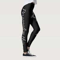 Personalize black white grey color mandala legging