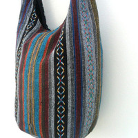 Crossbody Bag Bohemian Bag Hobo Bag Hippie Bag Messenger Shoulder Bag Purse Handbag boho Gift Thai Bag Handmade Everyday Bag Gift Multicolor