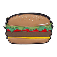 Hamburger Faux Leather Clutch Bag