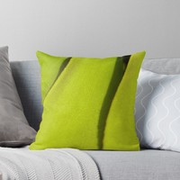 'Delicate leaf macrophotography' Throw Pillow by Chloé Yzoard