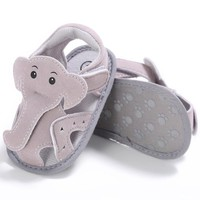Summer Baby Shoes Cotton Fabric Soft Sole Elephant Nose Baby Sandals Cute Newborn Infant Shoes Toddler Boys Sandals