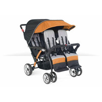 Foundations Baby Infant Carrier Quad Sport 4-Passenger Stroller Orange - 4141309